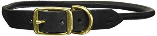 24 INCH - 1in Wide - Black - Round Leather Latigo Collars ()