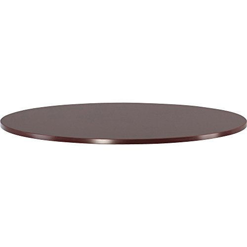 Lorell Round Tabletop, 48-Inch, Mahogany (Round Top Wood Table)