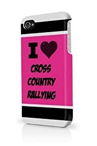 Cross Country Rallying Pink For Ipod Touch 4 Phone Case Cover