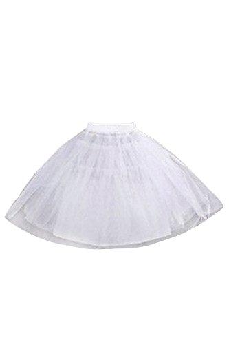 - MisShow Girls Half Slips Puffy Petticoat Flower Girls Underskirt White