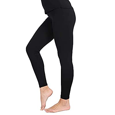 MANCYFIT Thermal Pants for Women Fleece Lined Leggings Underwear Soft Bottoms at Women's Clothing store