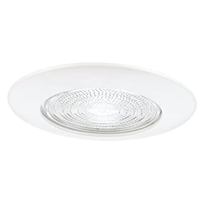 Sea Gull Lighting 11055AT-15 6-Inch Fresnel Glass Shower Recessed Light Fixture Trim, White