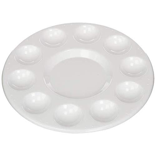 Clothful  to Half Price,Design Round Professional Plastic Paint Platte Tray White RoundPlatte 40' Round Shower Tray