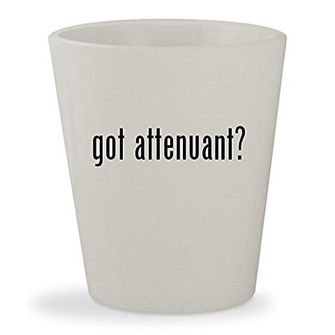 got attenuant? - White Ceramic 1.5oz Shot Glass ()