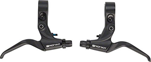 (Promax XL-373 Alloy 2 Finger Long Pull Brake Lever Black For Use With Linear Pull Brakes)