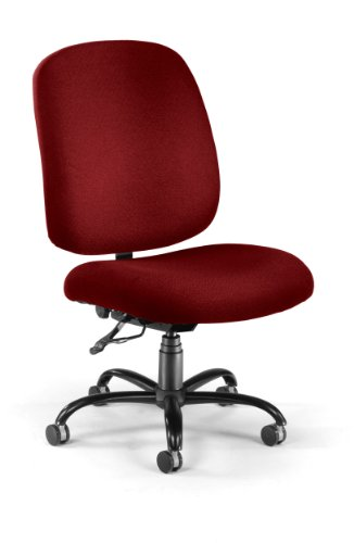OFM Big and Tall Executive Task Chair - Armless Fabric Office Chair, Wine (700-238)