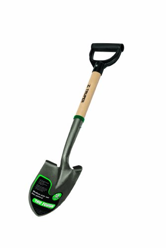 Point Shovel Wood Handle - Truper 31196 Tru Tough 19-Inch Short D-Handle Round Point Shovel, 19-Inch Wood