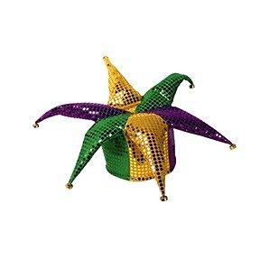 Mardi Gras Jester Hat (Glitz 'N Gleam Jester Hat (w/bells) Party Accessory  (1 count))