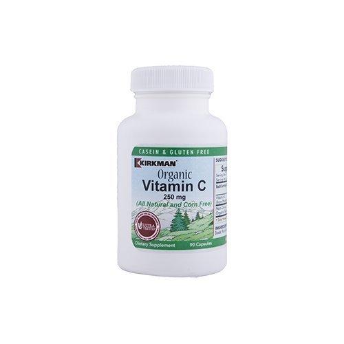 Kirkman Labs Organic Vitamin C 250 mg (All Natural and Corn Free) - 90 capsules