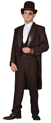 Deluxe Men's Steampunk Costume- Theatrical Quality (Large, -