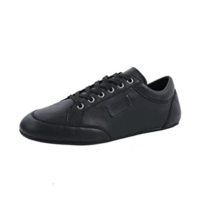 Dolce & Gabbana Black Leather Fashion Sneakers Shoes US 8.5 EU 41.5
