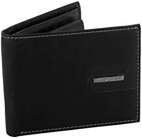 Mini wallet man GUIDO VIETRI black in leather with coin purse and flap A5625