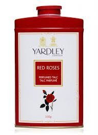 (Yardley London RED ROSE Perfumed Deodorizing Talc Talcum Powder 100gm )
