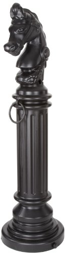 Smoker Decorative Cigarette Receptacle with Rubber Bottom, Hitching Post, 12-1/2