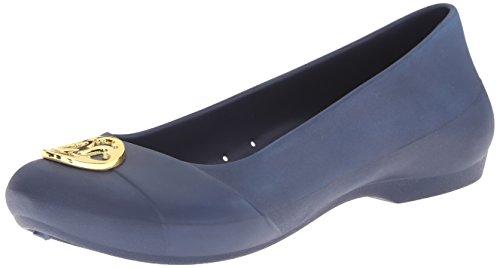 Crocs Women's Gianna Disc Flat Navy/Gold