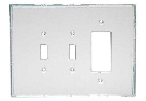 GlassAlike® Triple (Switch/Switch/Decora) Combo Acrylic Mirror Switch Plate