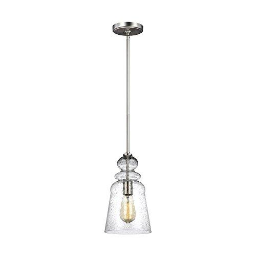 Sea Gull Lighting 6536901-962 One Light Pendant Brushed Nickel