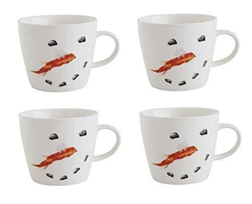 Snowman Face Winter Ceramic Coffee Mugs - Set of -