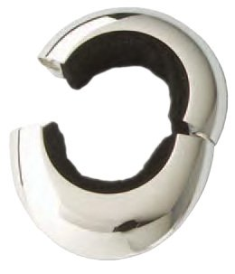 Magnetic Wine Collar Drip Stopper, Two-Piece, Silver Plated