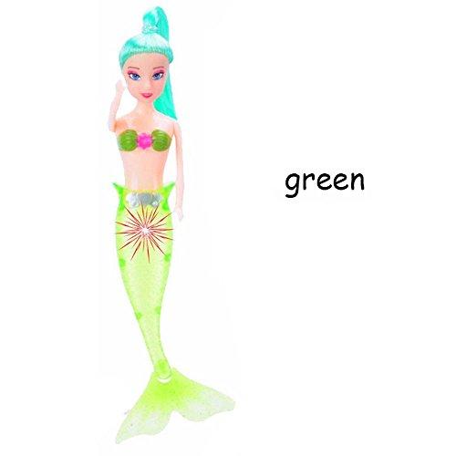 waterproof light swimming mermaid doll