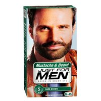 gel mustache beard dark