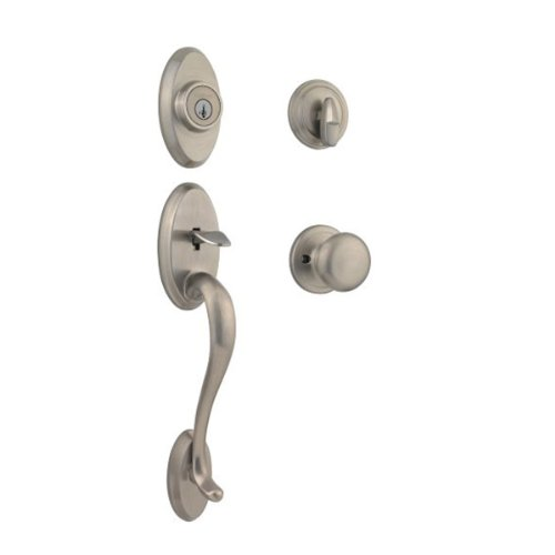 Kwikset Chelsea Single Cylinder Handleset w/Juno Knob featuring SmartKey in Satin Nickel (Mortise Lock Sectional)