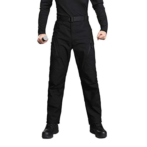 Realdo Hot!Clearance Sale Mens Daily Casual Solid Straight Outdoors Work Trousers Cargo Pants(Small,Black) by Realdo