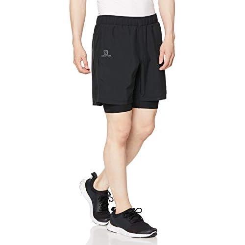 chollos oferta descuentos barato SALOMON Agile Twinskin Sr Pantalones Cortos Deportivos Hombre Negro XS