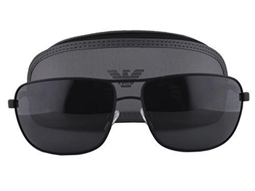 Emporio Armani EA 2033 Sunglasses Black Rubber w/Gray Lens 3094/87 - Armani Clearance