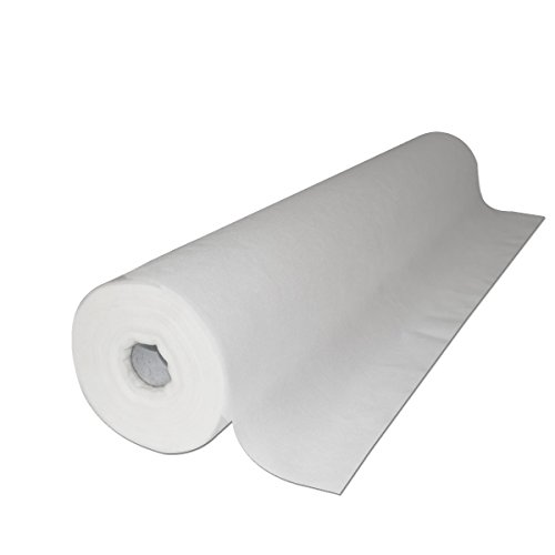 70.5''x28'' 50 Sheet/Roll 6 Roll Case Disposable White Non-Woven Paper Exam Table Bed Cover by TOA Supply