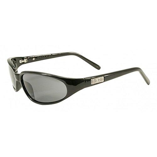 Black Flys Sunglasses - Micro Fly / Frame: Shiny Black Lens: Smoke-KOMICROBLK