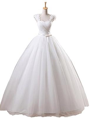 Snowskite Women's Sweetheart Puffy Ball Gown Wedding Dress