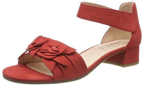 Con Sandalia Pulsera Nubuc Caprice 544 Carla Mujer red Para Rojo AHqPSPRw5