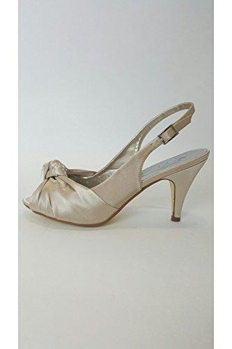 3 36 Collection mit aus Satin Knoten UK hellgoldenem Schuh Verdon EUR VTL1650 Zehenspitzen VT 35 4qPPwH
