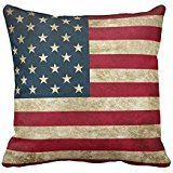American Flag Pride Throw Pillow Cover For Living Room, Sofa, Etc 18 x 18 Inches