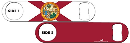 Inked Bottle Opener Flag: Florida