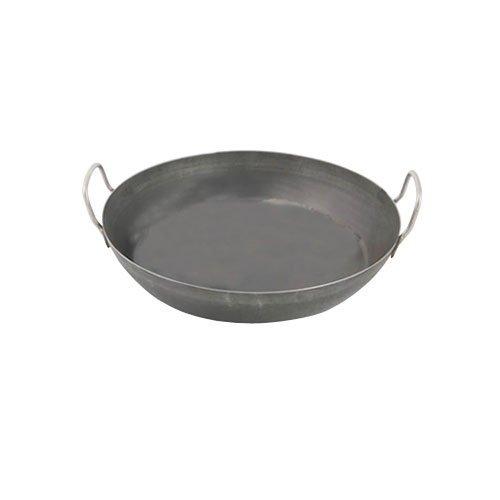 World Cuisine 12 1/2 Inch Black Steel Paella Pan