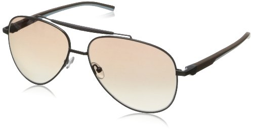 Tag Heuer Automatic88111560 Aviator Sunglasses,Dark & Brown