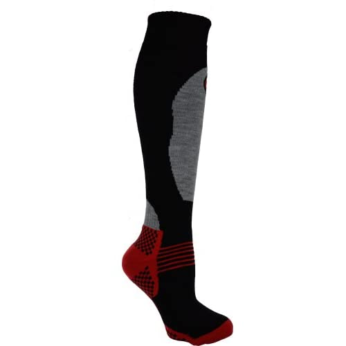 31Xd6AwbJBL. SS500  - 1 Pair - HIGH PERFORMANCE ladies ski socks - long hose thermal socks - Size UK 4-7 (EUR 35-41) (Black)