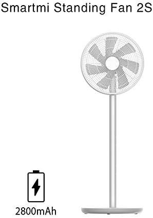 Yuzhonghua El Nuevo Ventilador de Piso 2 / 2S DC portátil del Ventilador del Aire Acondicionado de pie Recargable Viento Natural (Color : Smartmi Fan 2S, Plug Type : EU)