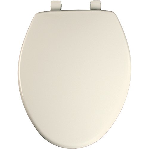 Bemis 7300SLEC Elongated Plastic Toilet Seat in Biscuit