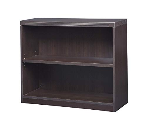 Sаfcо Prоducts Deluxe Premium Collection Bookcase 2 Shelf Mocha Tf Decor Comfy Living Furniture