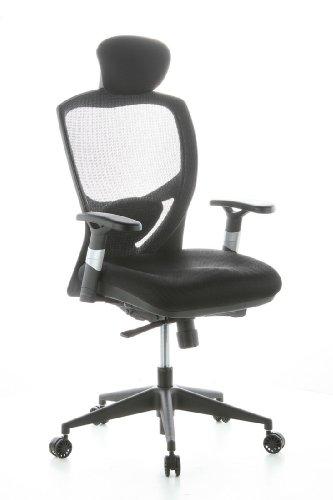 HJH OFFICE 657100 Bürostuhl / Chefsessel Venus Base Netzstoff, schwarz