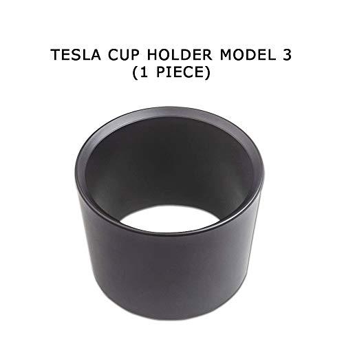 CoolKo Cup Holder Insert Expander Adapter Fit Most of Bottles for Tesla Model 3-1 Piece [Black] ()