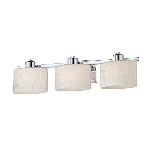 allen + roth 3-Light Grayson Polished Chrome Bathroom Vanity Light