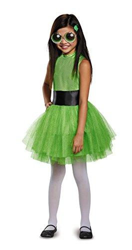 Powerpuff Girls Halloween Costumes (Buttercup Tutu Deluxe Costume, Green, Small (4-6X))
