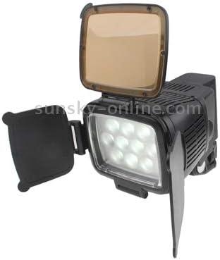 Tawny//Transparent LED-5012 // Adjustable Brightness JINUS 10 LED Video Light with Grip//Two Color Transparent Filter Cover