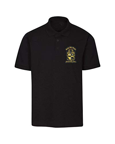 Fashion Greek Alpha Phi Alpha Fraternity Polo Shirt Black Medium