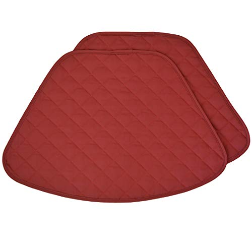 Pea Designs Sweet Red (Sweet Pea Linens Set of 2 Berry Quilted Wedge-Shaped Placemats for Round Tables)
