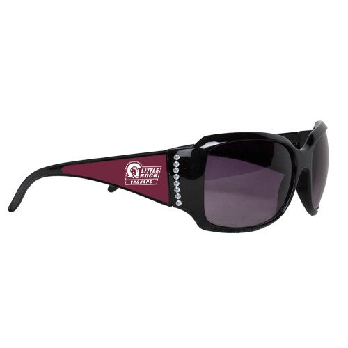 Arkansas Little Rock Ladies Black Rhinestone Sunglasses 'Little Rock Trojans - Official Mark' by CollegeFanGear